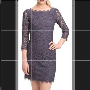 Dvf Zaria gray dress size 8